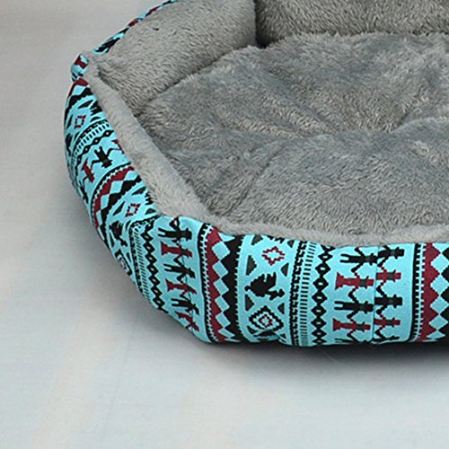 ReFaXi 1x Pet Dog Cat Bed Simple Puppy Cushion Room Warm Kennel Dog Pad Blanket New (Blue) by ReFaXi (Image #1)