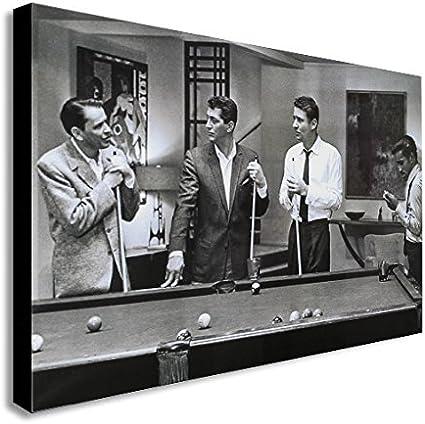 FAB Rat Pack jugando piscina de actores famosos/cantantes lienzo pared Art print – varios tamaños, madera, A2 24x16 inches: Amazon.es: Hogar