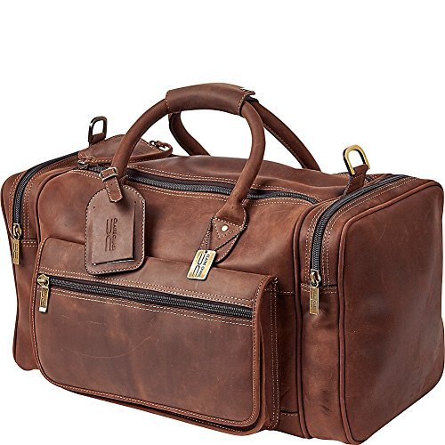Valise Bag (Claire Chase Rustic Sports Valise Duffel Bag, Rustic Brown, One Size)