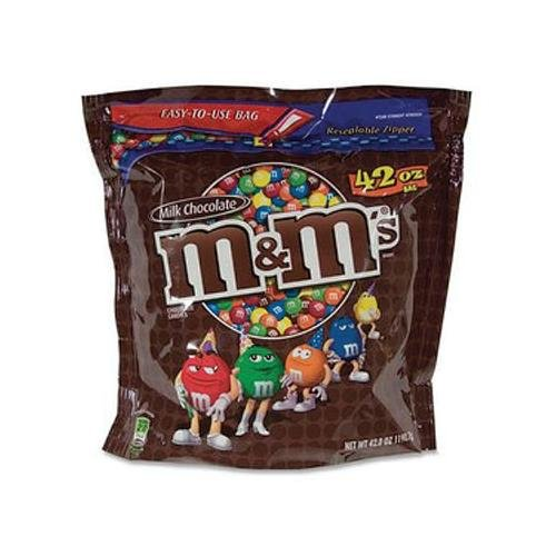 (MARS M&M PLAIN 42OZ Promotional Item - To Thank You For Your Business a 42 oz. Bag of Plain M&Ms)
