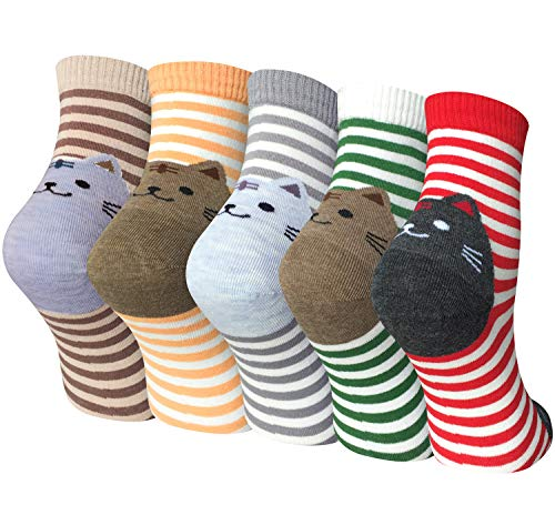 Chalier 5 Pairs Womens Cute Animal Socks Colorful Funny Casual Cotton Crew Socks