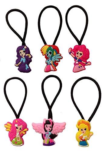 [Little Pony Hairband Ponytail Holder 6 Pcs Set #3] (Disney Tinker Bell Kids Sparkle Shoes)