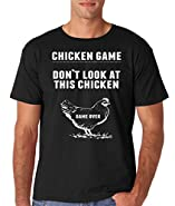 AW Fashion's Chicken Game - Don't Look At This Chicken Funny Joke Premium Men's T-Shirt
