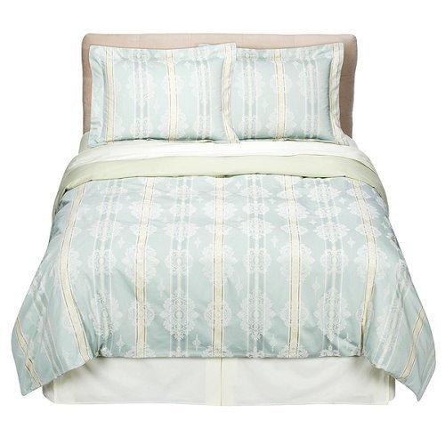 Fieldcrest® Luxury Stripe Duvet - Blue Damask (Over Sized King)