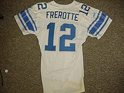 premium selection c2eee 93d99 Gus Frerotte Detroit Lions White Puma Game Worn Jersey at ...