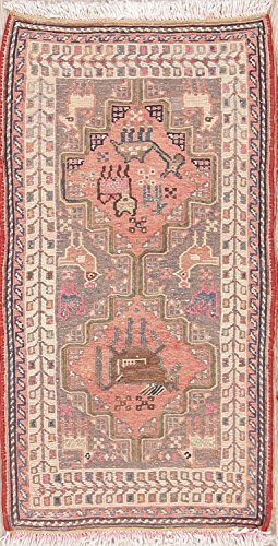 Rug Source Nomad Animals Tribal 2x3 Sumak Kilim Hand Woven Persian Area Rug For Bedroom (2' 8'' x 1' ()
