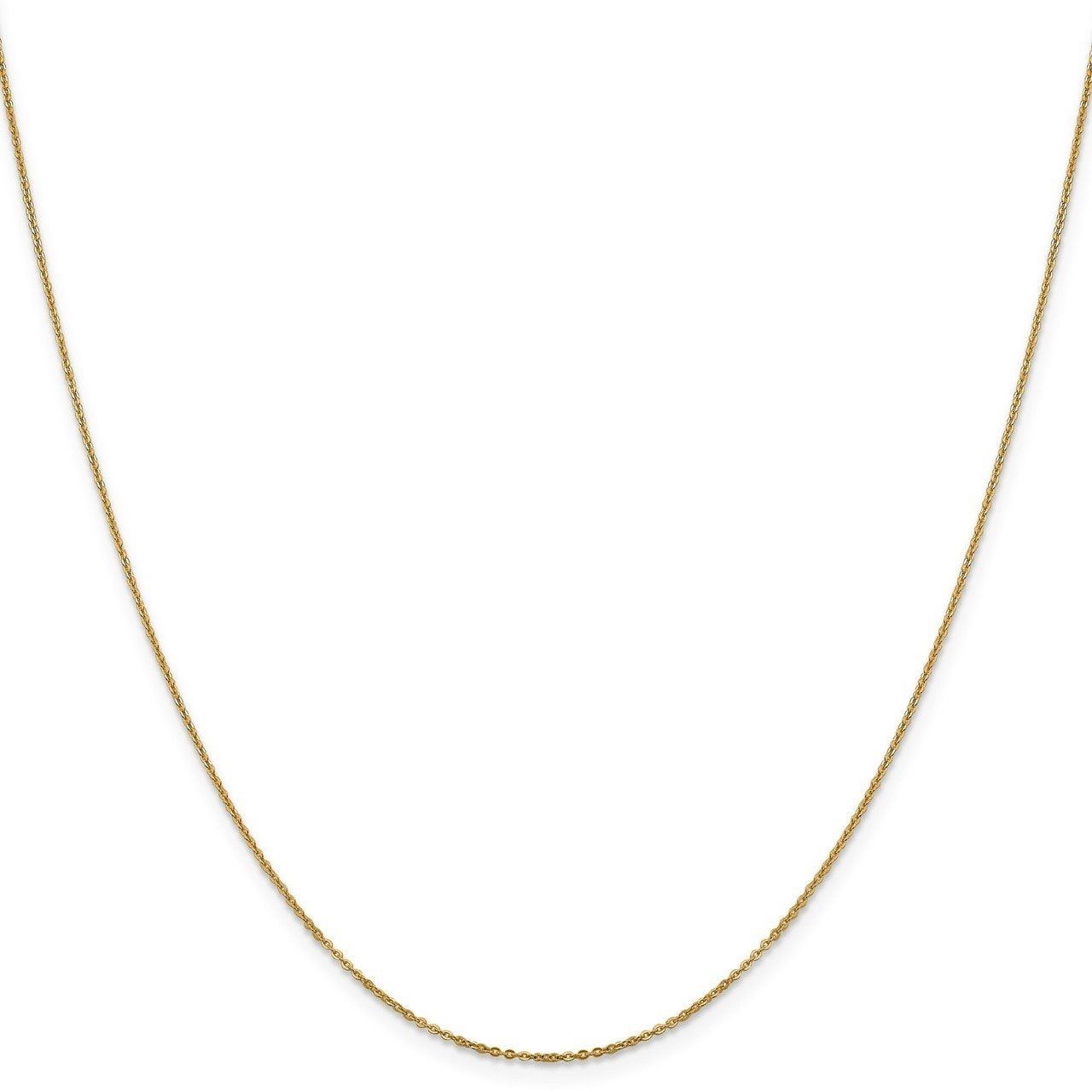 Lex /& Lu Leslies 14k Yellow Gold Flat Cable Chain Necklace LAL92034