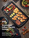 Electric Griddle, DEIK 2-in-1 Indoor Grill