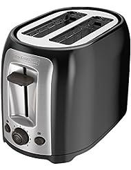 BLACK+DECKER TR1278B 2-Slice Toaster, Black