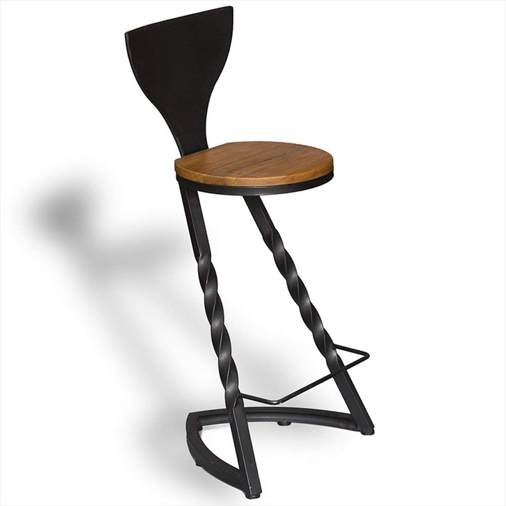 103cm JZX Chair- Bar Stool Iron + Wood Fashion Design Family Bar Cafe Practical Chair