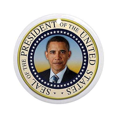 CafePress - Keepsake President Obama Round Seal Ornament (Roun - Round Holiday Christmas Ornament (Tree Christmas Presidential)
