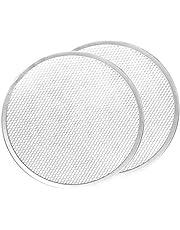 Kolaty Pizza Screen, Pizza Pan,Pizza Pan for Oven, Pizza Tray, 12 Inch Seamless-Rim Aluminum Non Stick Pizza Screen (2PCS)