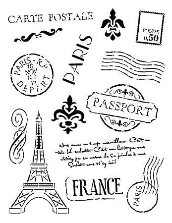 Passport To Paris Stencil By StudioR12
