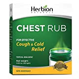 Herbion Naturals Chest Rub, 5 fl oz – Topical Analgesic; Relieves Cough, Nasal and Chest Congestion; Soothes Pains and Aches Associated with Strains, Sprains, and Arthritis