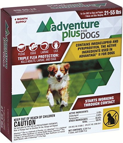 Adventure Plus - Flea Drops - MADE IN THE USA ((4-dose) LARGE DOG (21-55 lbs))