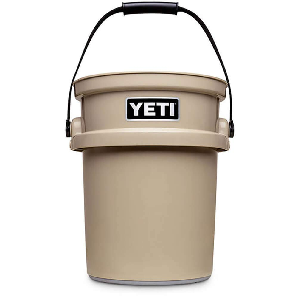 YETI Loadout Impact Resistant Fishing/Utility Bucket with Hefty Hauler Handle / Tan B074QT1LGS