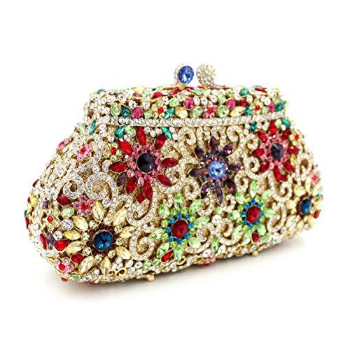 creux papillon sac strass diamant Couronne Gold métal de Embrayage de en Sac la de de de de cristal Sac de dîner de luxe fH5q1vTw