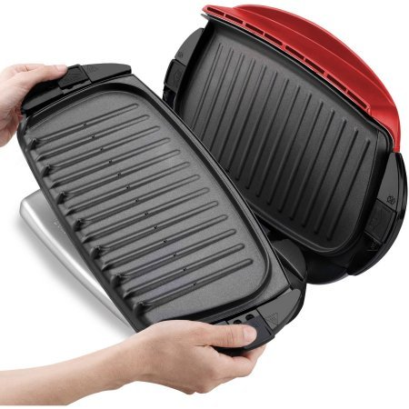 George Foreman 5-Serving Grill with Removable Plates, Red, GRP0004R by George Foreman Grillls (Image #6)