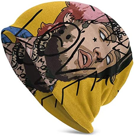 FortyCats Lil P Love L Peep Beanies for Guys Fashion Knit Hat for Unisex Novelty Gift Black Cap Hedging Hat