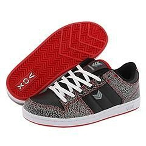 Vox Skateboard Schuhe Strubing -- Black/Red/White/Elephant