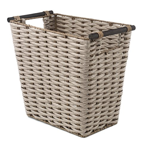 Whitmor Waste Basket with Wood Handles ()