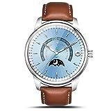Smart Watch LEMFO LEM1 Pro Super Slim Bluetooth Fitness Tracker Smartwatch with Leather Band (Pro Sliver)