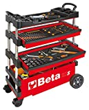 Beta Tools C27S-R Folding Tool Trolley for Portable USE - RED