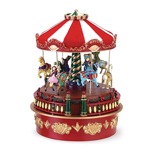 Mr. Christmas Animated Musical Carousel (2013)-Wind-Up- Plays