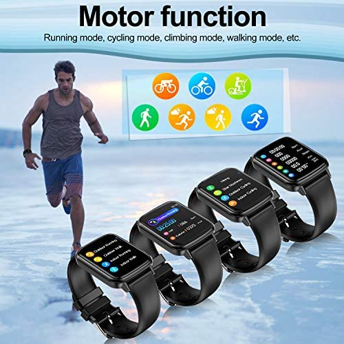 2020 CEGAR Fitness Tracker, Smart Watch with Heart Rate, Ip68 Waterproof Bluetooth Smartwatch for Android iOS Phone, Sleep Tracking Calorie Counter,Pedometer for Women Men (Black) 51I5lpuY3HL