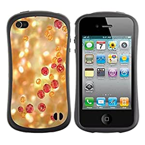 """Pulsar iFace Series Tpu silicona Carcasa Funda Case para Apple iPhone 4 / iPhone 4S , Del brillo de Bling Luz piedras preciosas Joyería"""""""