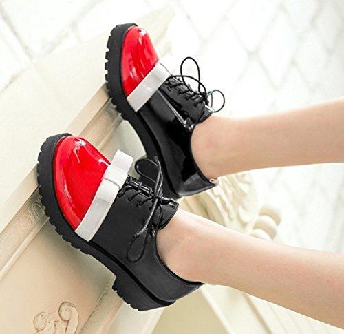 Mode Noeud Bout Aisun à Femme Brogue Rouge Richelieus Rond XEUUn5wpq