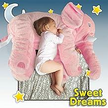 Elephant Doll Pillow Long Nose Soft Plush Stuff Toys Lumbar Pillow For Ocean Star® Baby Kids (45 * 25 * 60cm, Beige)