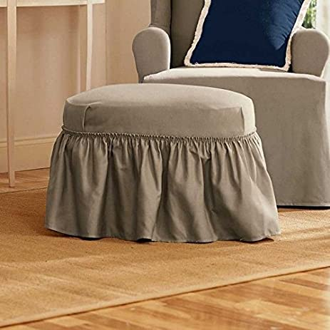 amazoncom sure fit duck solid 2piece ottoman slipcover sage sf33899 home u0026 kitchen