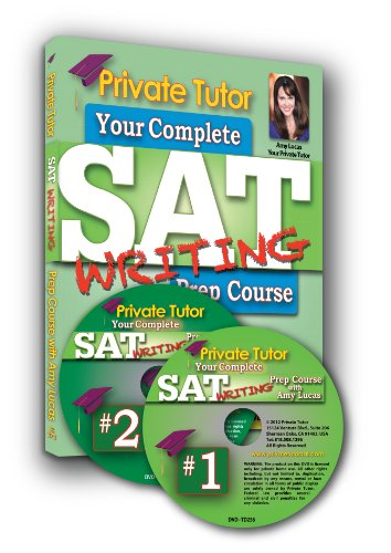 Private Tutor - WRITING - 5-Hour Interactive SAT Prep Course - 2 DVDs & Book