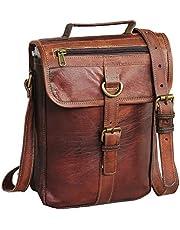 Leather I pad Messenger Satchel Bag Tablet Cross Body Shoulder Bag 11 Inch