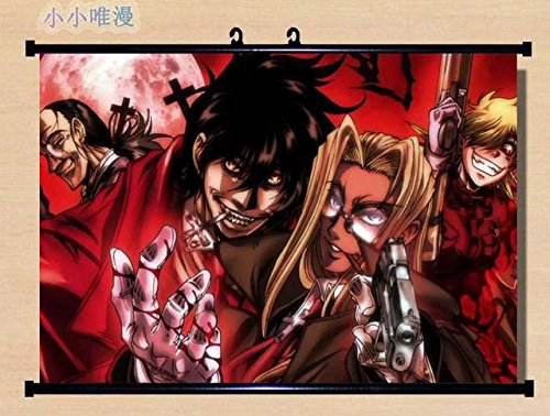Anime Hellsing Home Decor Wall Scroll Poster Fabric Painting Alucard / Seras Victoria /RUINS 22 x 16 Inches-02 ()