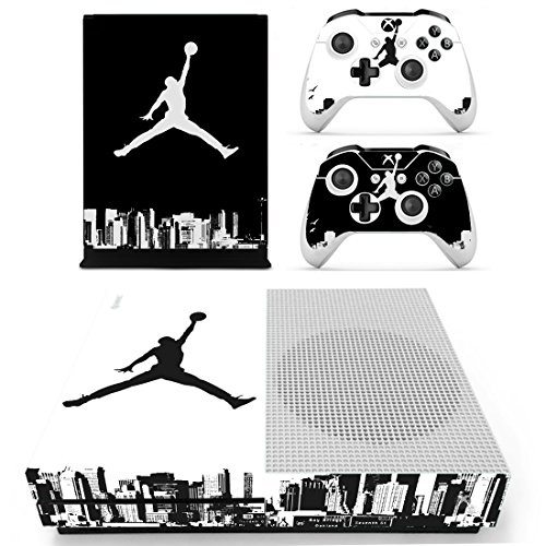 L'Amazo Best Sport American football basketball baseball style XBOX ONE SLIM Skin Designer Game Console System p 2 Controller Decal Vinyl Protective Covers Stickers for XBOX ONE S (Street -