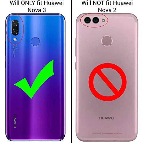 Huawei Nova 3i/Huawei P Smart+ Slim Case with 2 Pack Glass Screen Protector  Phone Case for Men Women Girls Clear Soft TPU with Protective Bumper Cover