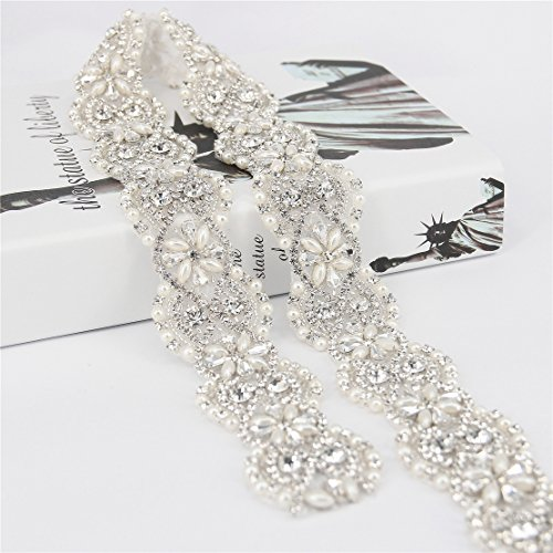 Trlyc 2015 New Vintage Crystal Wedding Belt Dress Belt Crystal Rhinestone Pearl Bridal Sash