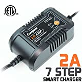 Energizer ENC-2A 2 Amp Battery Charger + Maintainer features 6 volt and 12 volt charging selectivity