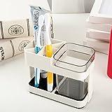 Angel Bear 1 Cup Toothbrush Toothpaste Stand Holder Bathroom Storage Organizer,Plastic