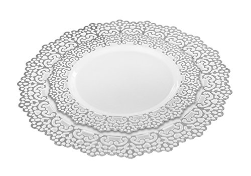40 Piece (20 Guest) Elegant Disposable Plastic Dinnerware Plates Hard u0026 Reusable Real China Look - Party Package Set - Includes 10 inch Inch Dinner Plates ...  sc 1 st  Towels and other kitchen accessories - .towelsand.com : elegant plates disposable - pezcame.com