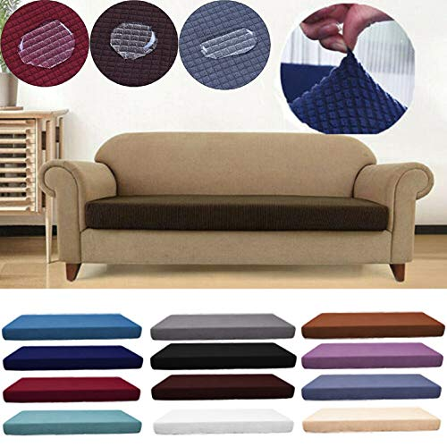 m·kvfa 1-4 Seats Stretch Sofa Slipcover Waterproof Sofa Seat Cushion Cover Couch Stretchy Slipcovers Furniture Protector for Living Room (L, Light Blue) from *m·kvfa* Home Textiles