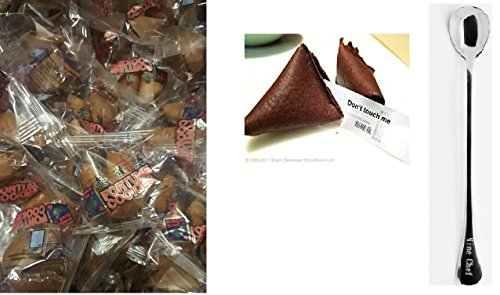 100 Pcs Fortune Cookies Fresh Chocolate Flavo(golden (Chocolate Fortune Cookies)