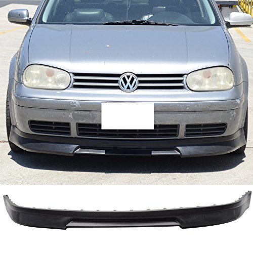 (Front Bumper Lip Fits 1999-2004 Volkswagen Golf   P3 Style Black PU Front Lip Finisher Under Chin Spoiler Add On by IKON MOTORSPORTS   2000 2001 2002 2003 )