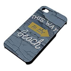 This Way to the Beach Slim Fit Hard Case Fits Apple iPhone 4 4S