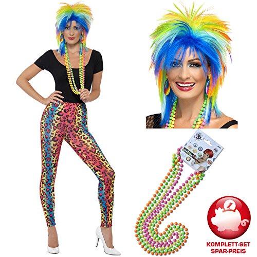PARTY DISCOUNT Kostüm-Komplett-Set 80er Damen-Look, 3 tlg. B01KTR9X24 Verkleiden & Kostüme Große Klassifizierung | Flagship-Store