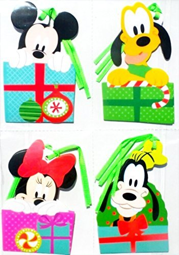 Disney Gift Tags - Disney Mickey & Friends Christmas Gift Tags, Embellishments, Pack 8-Count, 2.5