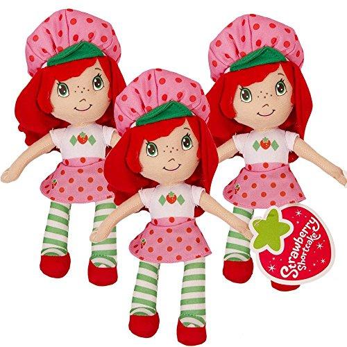 Strawberry Shortcake Party Favors Pack -- Set of 3 Dolls (Strawberry Shortcake Party Supplies) (Mini Strawberry Shortcake Toys)