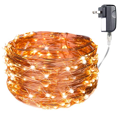 Extra Long 70ft 200led the Original Starry String Lights Copper Wire LED Warm White Perfect for Parties, Bedrooms, or an Intimate Environment Anywhere in the Home - Die Round Wire 1